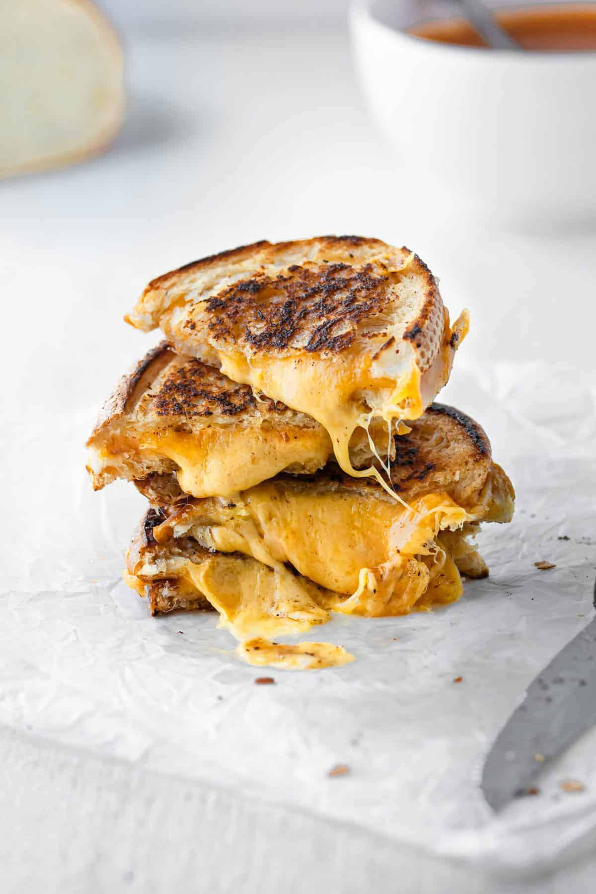 stack of grilled cheese