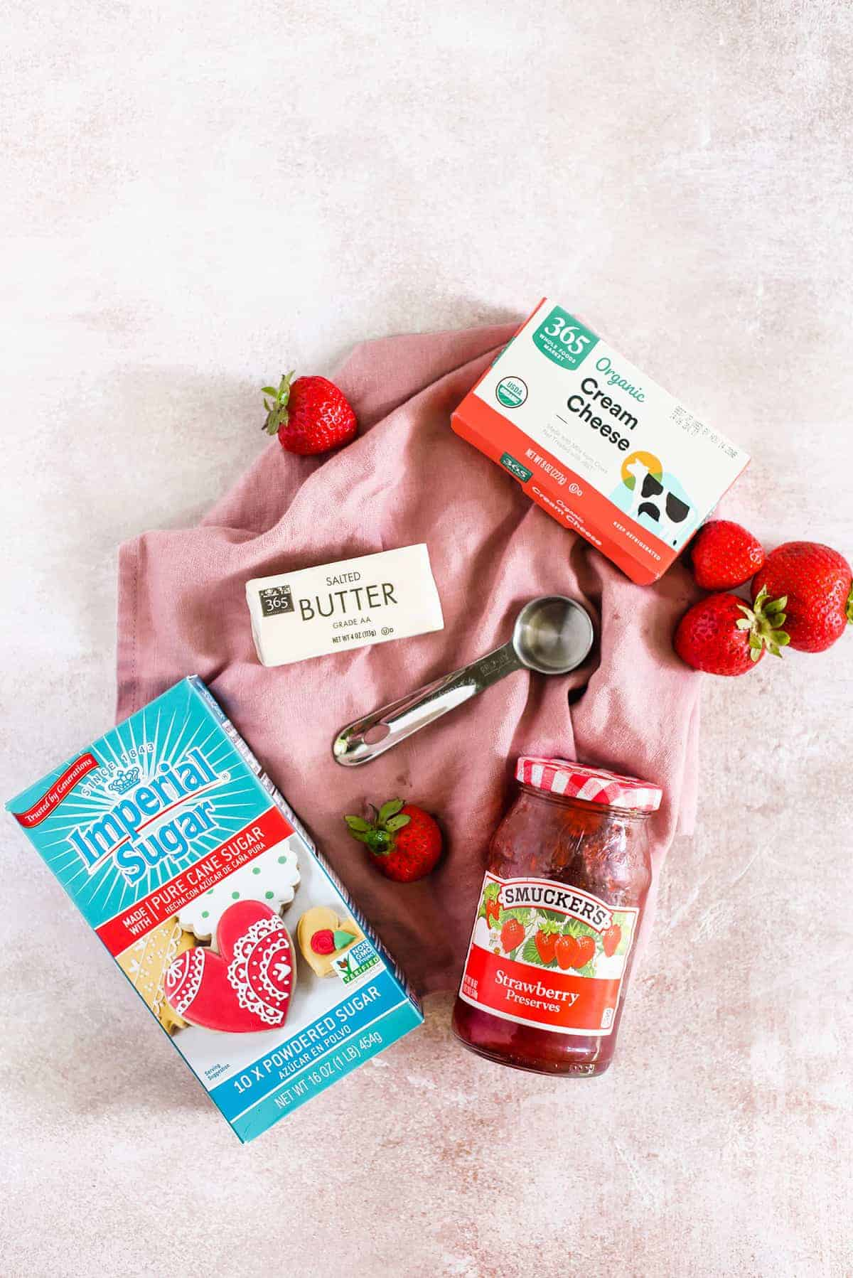 strawberry cream cheese frosting ingredients