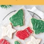 holiday sugar cookies on plate