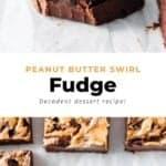 Peanut Butter Swirl Cream Cheese Fudge