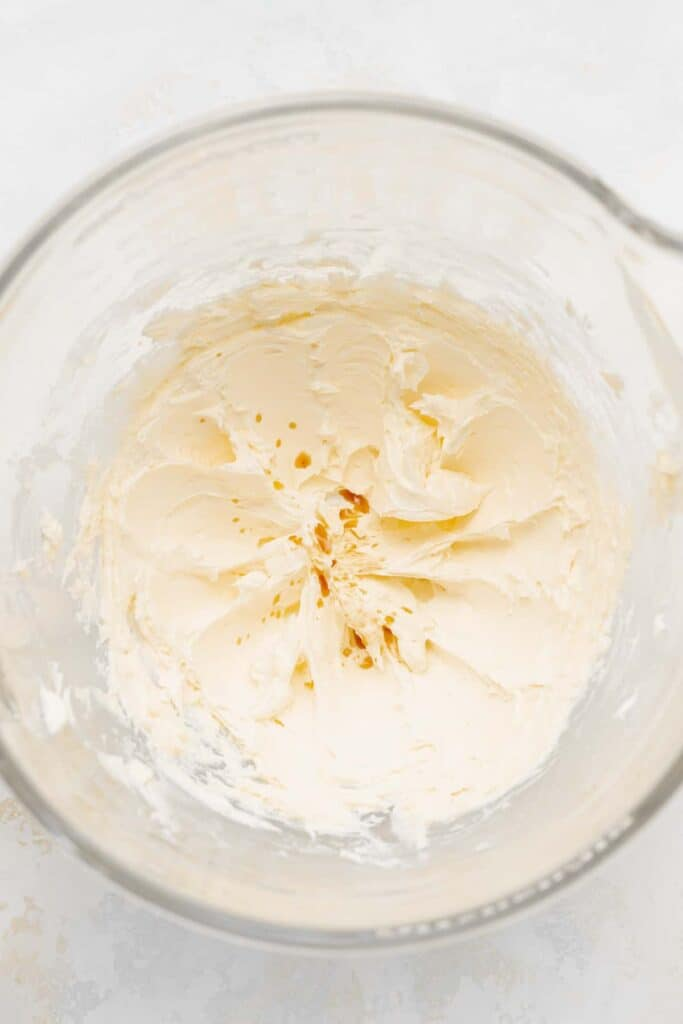 cream cheese frosting in stand mixer
