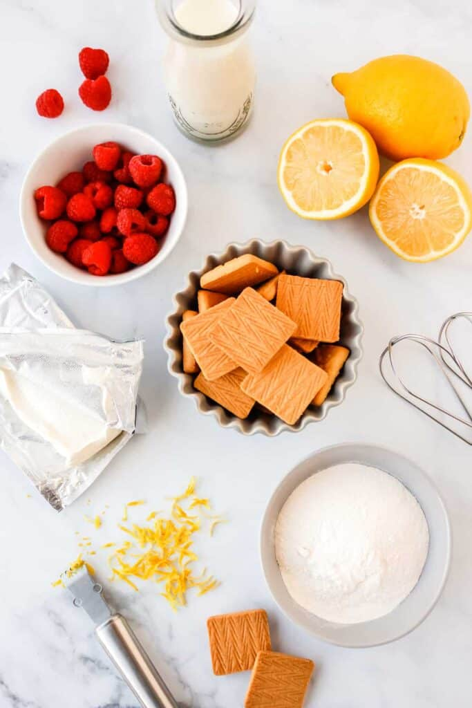 lemon cheesecake dessert ingredients