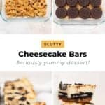 The process of making slutty cheesecake bars
