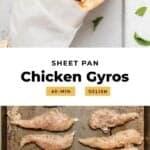 Sheet pan chicken gyros