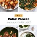 how to make palak paneer.
