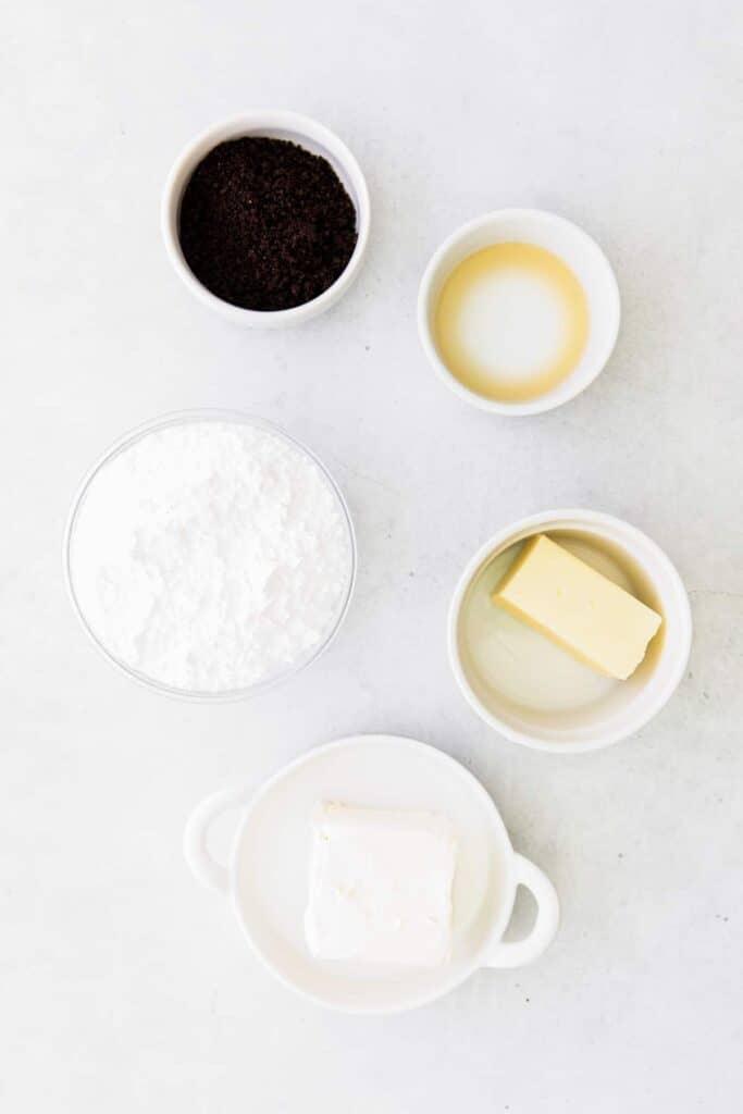 frosting ingredients on countertop