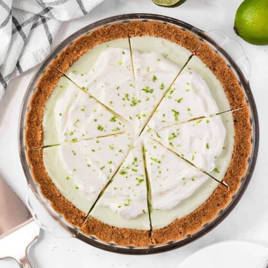 A whole key lime pie.