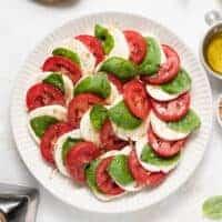 Caprese salad on a plate!