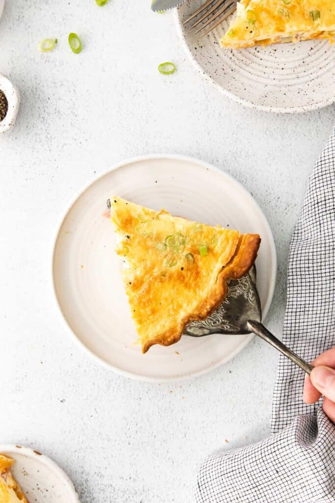 quiche on plate