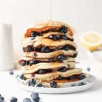 ricotta pancakes on plate