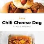 chili cheese dogs in bun
