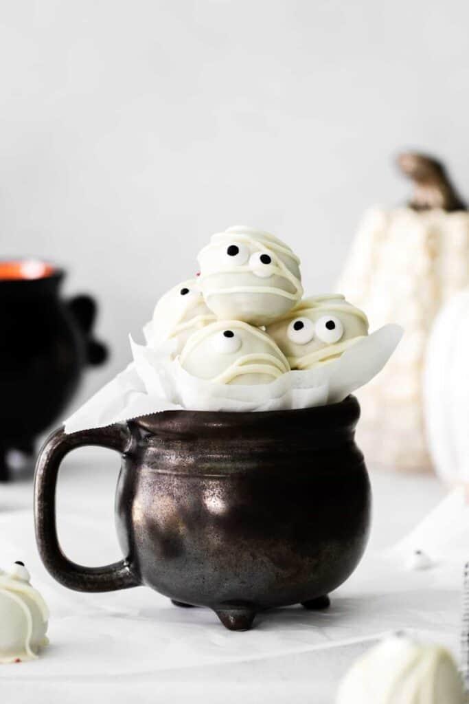 mummy truffles in cup
