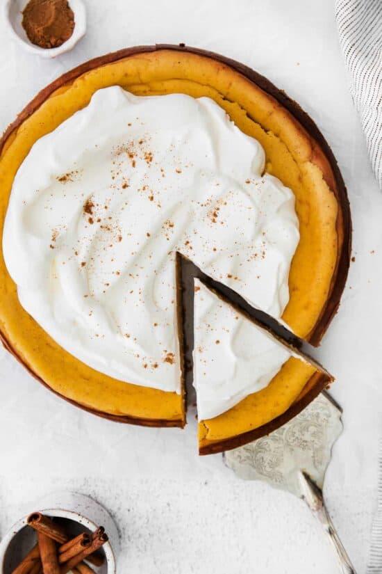 chai pumpkin cheesecake