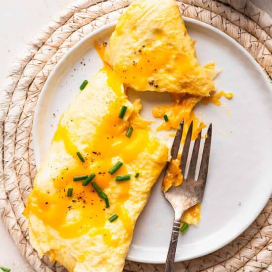 cheese omelette on a plate